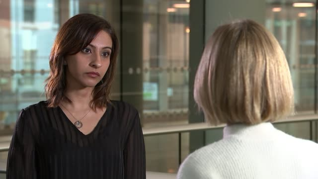 british authorities report a surge in the number of chinese trafficking and human slavery cases; england: london: int shalina patel set-up shot with... - エセックス州点の映像素材/bロール
