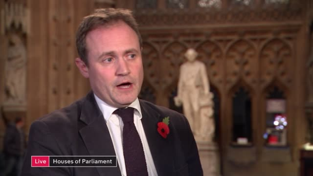 mps urge government to rethink approach to migration england london westminster int tom tugendhat mp live interview sot - cathy newman stock videos & royalty-free footage