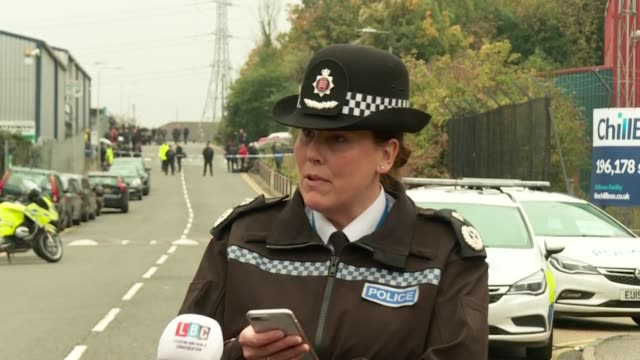 police press conference england essex grays waterglade industrial park ext pippa mills along and press conference sot we've been progressing the... - thank you englischer satz stock-videos und b-roll-filmmaterial