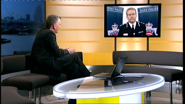 essex police announce staff cuts england essex int chief constable jim barkermccardle 2way interview sot 46 counters open at various hours across... - financial accessory stock videos and b-roll footage