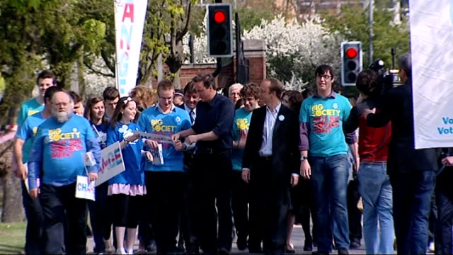 essex thurrock ext david cameron mp along with tory party supporters ends - thurrock stock videos and b-roll footage