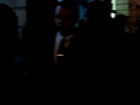 Established and Sons art gallery launch party departures Thandie Newton departing venue through pack of press and photographers / Gwyneth Paltrow...