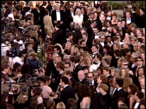 establishing at the 1995 academy awards arrivals at the shrine auditorium in los angeles, california on march 27, 1995. - shrine auditorium stock videos & royalty-free footage