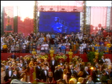 establishing at the 2001 academy awards at the shrine auditorium in los angeles california on march 25 2001 - 73rd annual academy awards stock videos & royalty-free footage