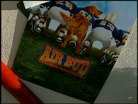 establishing at the 'air bud golden receiver' premiere at sherman oaks in los angeles california on august 8 1998 - sherman oaks stock videos & royalty-free footage