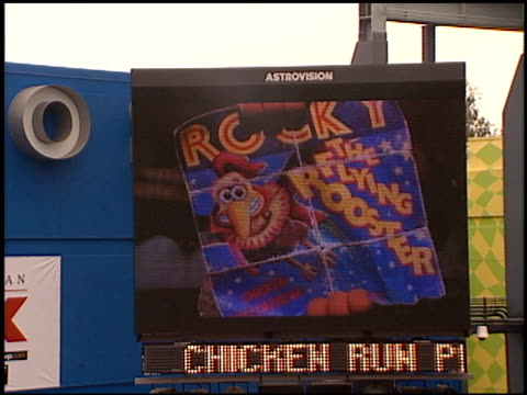 establishing at the 'chicken run' premiere at universal citywalk cinema in universal city california on june 17 2000 - chicken wire stock videos and b-roll footage