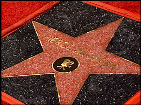 Establishing at the Dediction of Pierce Brosnan's Walk of Fame Star at the Hollywood Walk of Fame in Hollywood California on December 3 1997