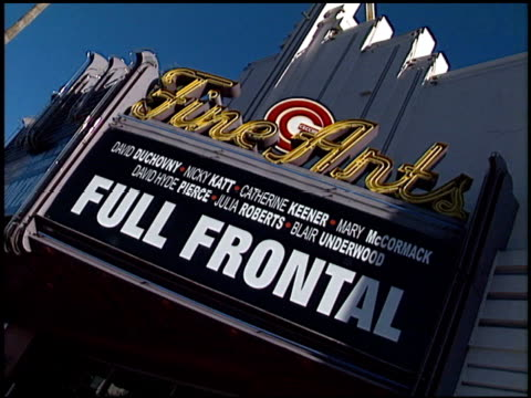 Establishing at the 'Full Frontal' Premiere at Landmark Theatre in Beverly Hills California on July 23 2002