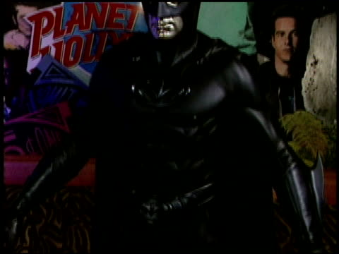 Establishing at the Mr Freeze and Batman Costume Presentation at Planet Hollywood in Beverly Hills California on June 6 1997