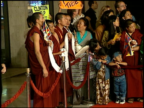 establishing at the 'seven years in tibet' premiere at cineplex odeon in century city california on october 6 1997 - odeon cinemas stock videos & royalty-free footage