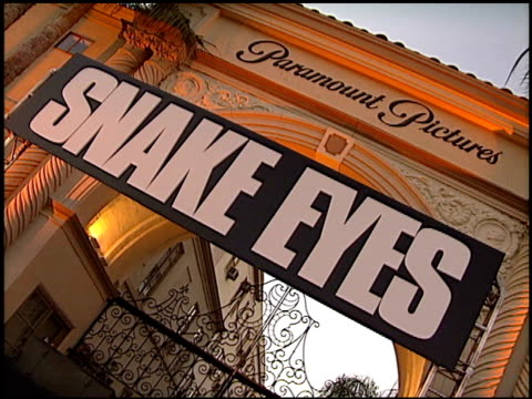 Establishing at the 'Snake Eyes' Premiere at Paramount Theater in Hollywood California on July 30 1998