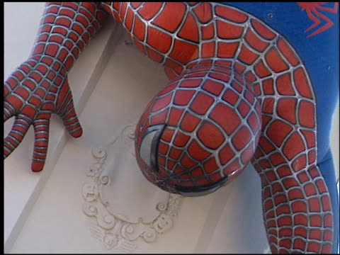 establishing at the 'spiderman' premiere on april 29 2002 - film premiere stock videos & royalty-free footage
