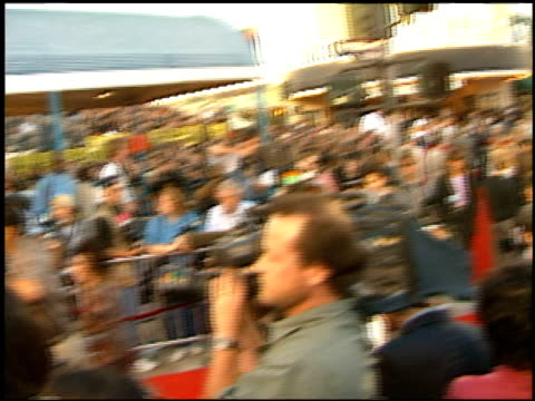 establishing at the 'twister' premiere on may 8 1996 - twister 1996 film stock videos and b-roll footage