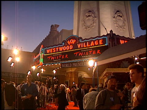 establishing at the 'twister' premiere on may 8, 1996. - 1996 video stock e b–roll
