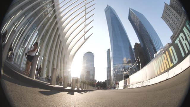 establishing shot looking up at new york city's world trade center - september 11 2001 attacks stock videos and b-roll footage