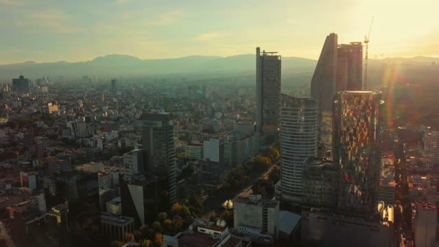 establishing shot, modern skyscrapers in mexico city - thoroughfare stock videos & royalty-free footage