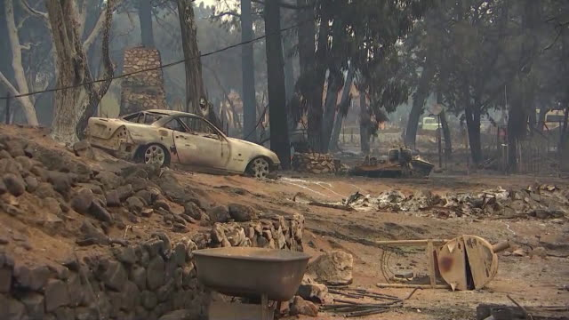 establishing shot of damage in the aftermath of the lake wildfire in lake hughes, california. - environment or natural disaster or climate change or earthquake or hurricane or extreme weather or oil spill or volcano or tornado or flooding stock videos & royalty-free footage
