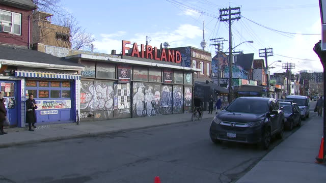 establishing shot of fairland in kensington market. - music or celebrities or fashion or film industry or film premiere or youth culture or novelty item or vacations stock videos & royalty-free footage