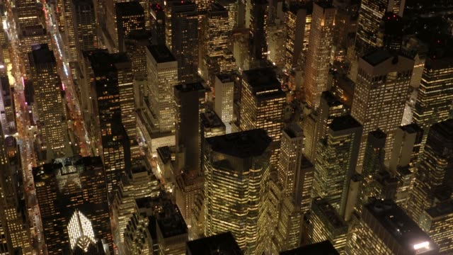 establishing shot of manhattan, new york. city in america. - office building exterior stock videos and b-roll footage