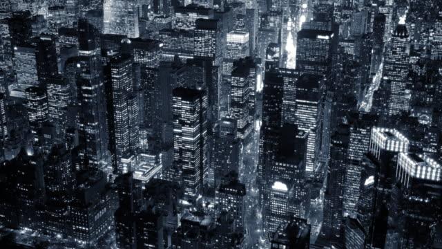 Establishing Shot of Manhattan, New York. City in America.