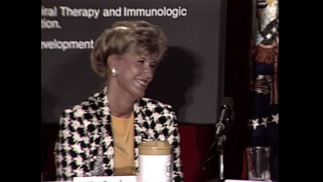 establishing shot of members of the commission on the hiv epidemic during an event in 1987. - 1987 stock videos & royalty-free footage