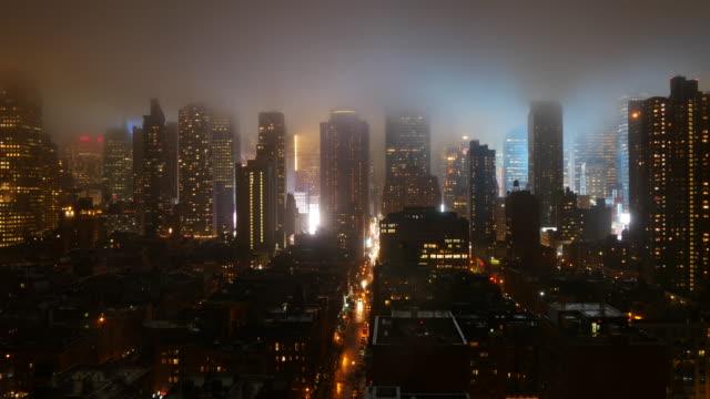Establishing Shot of New York City. Big Highrise Towers in Mayor City of the USA.