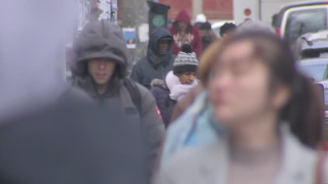 establishing shot of people walking on sidewalk though kensington market. - music or celebrities or fashion or film industry or film premiere or youth culture or novelty item or vacations stock videos & royalty-free footage