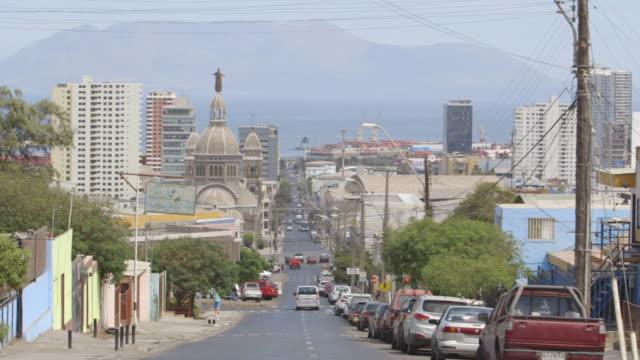 vídeos y material grabado en eventos de stock de establishing shot of santiago with cathedral, wide shot - camino santiago