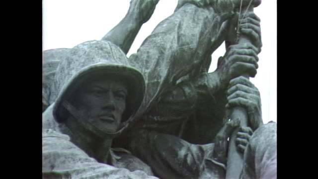 establishing shot of the marine corps war memorial in arlington county, virginia. - 1981 stock videos & royalty-free footage
