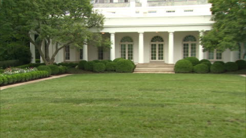 establishing shot of the renovated rose garden at the white house in washington d.c. - united states and (politics or government) stock videos & royalty-free footage