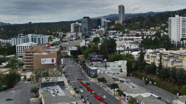 establishing shot of west hollywood and the sunset strip - west hollywood stock videos & royalty-free footage