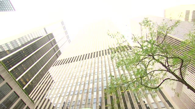 establishing shot tilting up of the news corporation building. - newspaper stock videos & royalty-free footage