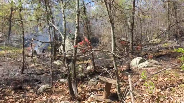 establishing shots of the fire damage in the area - salem stock videos & royalty-free footage