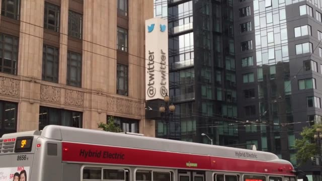 establishing shots of twitter headquarters - 本部点の映像素材/bロール