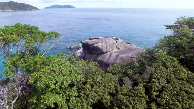 establishment shot flying over the similan islands, thailand - david ewing stock videos & royalty-free footage