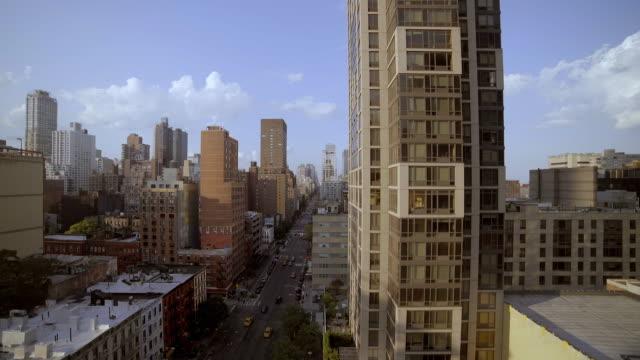establishment shot of urban city skyline. metropolis cityscape view