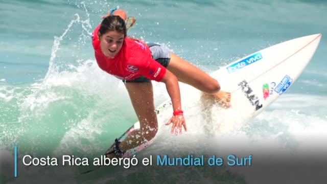 vídeos y material grabado en eventos de stock de estados unidos alcanzo el oro individual femenino y argentina el masculino en el mundial de surf que se desarrollo en costa rica mientras peru se... - ee.uu