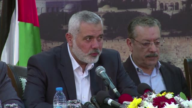 vídeos y material grabado en eventos de stock de estados unidos incluyo el miercoles al lider del movimiento palestino hamas ismail haniya en su lista negra de terroristas - ee.uu
