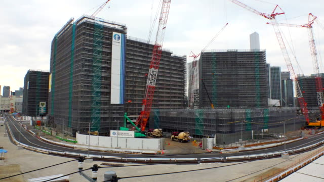 estblishing shot of the olympic and paralympic village for the 2020 tokyo olympics. - sport点の映像素材/bロール