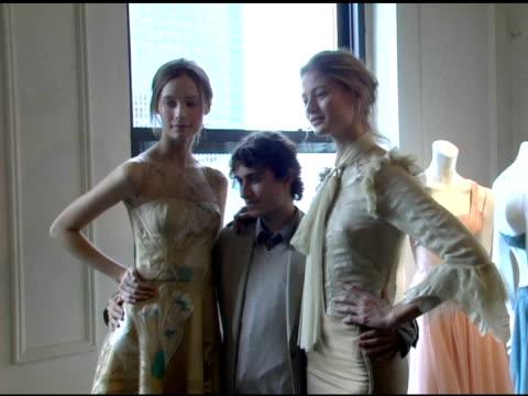Esteban Cortazar and Models wearing Esteban Cortazar Fall 2006 at the Olympus Fashion Week Fall 2006 Esteban Cortazar Presentation at Michael...