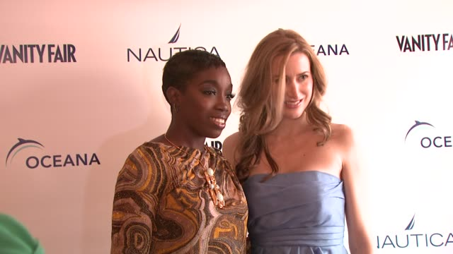 estelle and alexis bryan morgan at the oceana nautica vanity fair celebrate world oceans day at new york ny - oceana stock videos & royalty-free footage