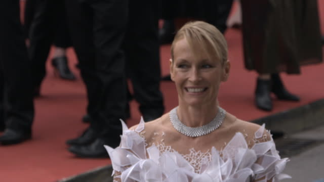 slomo estelle lefebure at 'the dead don't die' red carpet arrivals opening ceremony the 72nd cannes film festival on may 14 2019 in cannes france - the dead don't die 2019 film stock videos and b-roll footage
