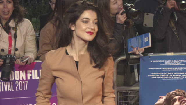 esther garrel at 'call me by your name' uk premiere 61st bfi london film festival at odeon leicester square on october 09 2017 in london england - call me by your name stock videos & royalty-free footage