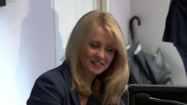 Esther McVey at a public speaking event