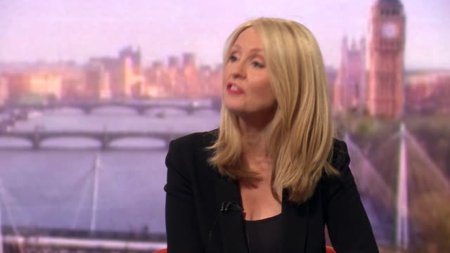 esther mcvey saying there is no way of getting a brexit withdrawal agreement through - andrew marr stock videos & royalty-free footage