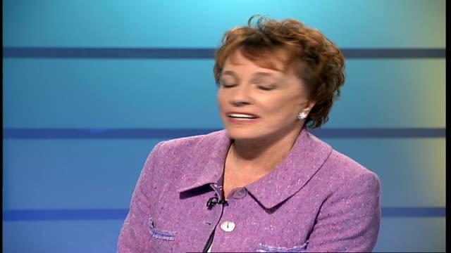 Esther Rantzen harangued by train hooligans **NOTE Esther Rantzen LIVE STUDIO interview SOT