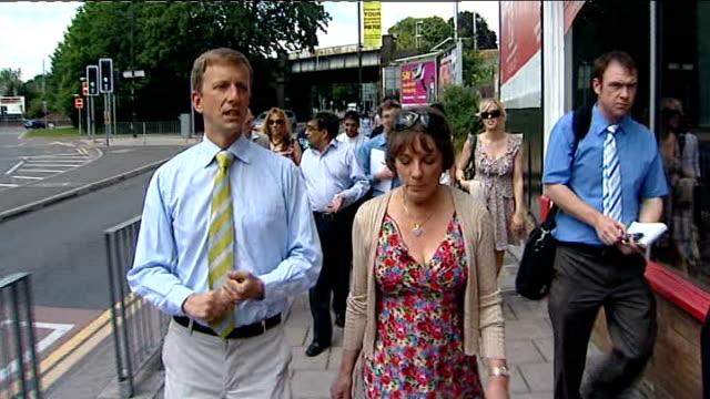 Esther Rantzen meets voters in Luton ENGLAND Luton EXT Various of Esther Rantzen meeting local people in street Esther Rantzen interview as towards...