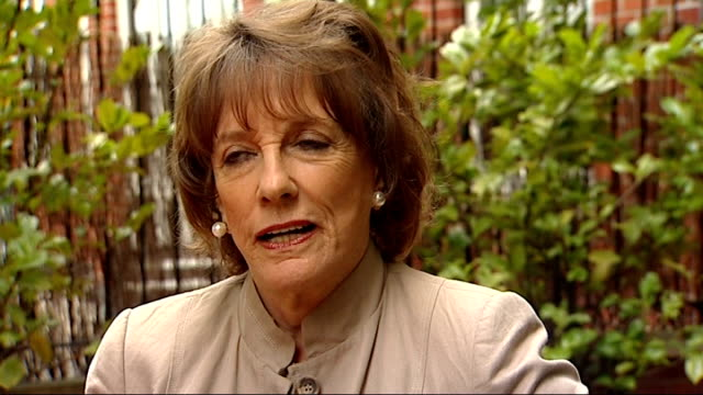 Esther Rantzen reveals that she was a victim of abuse ENGLAND EXT Esther Rantzen sitting chatting with ITN reporter Esther Rantzen interview SOT A...