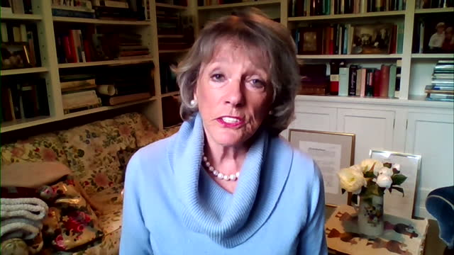 """esther rantzen saying she does not see a """"direct line"""" between martin bashir's interview of princess diana and her death - bbc点の映像素材/bロール"""