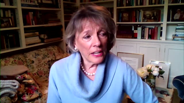"""esther rantzen saying there was """"no paranoia"""" with princess diana after the martin bashir interview - report document stock videos & royalty-free footage"""